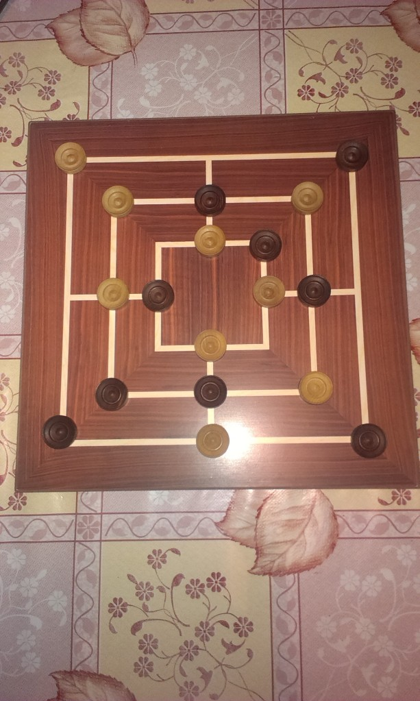 A game where all the pieces have been placed just before the moving phase begins.