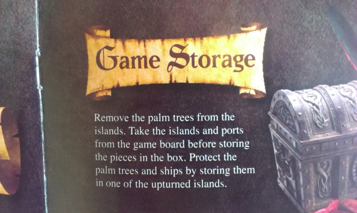 This is in the instructions as some sort of compensation for the lack of actual storage system.