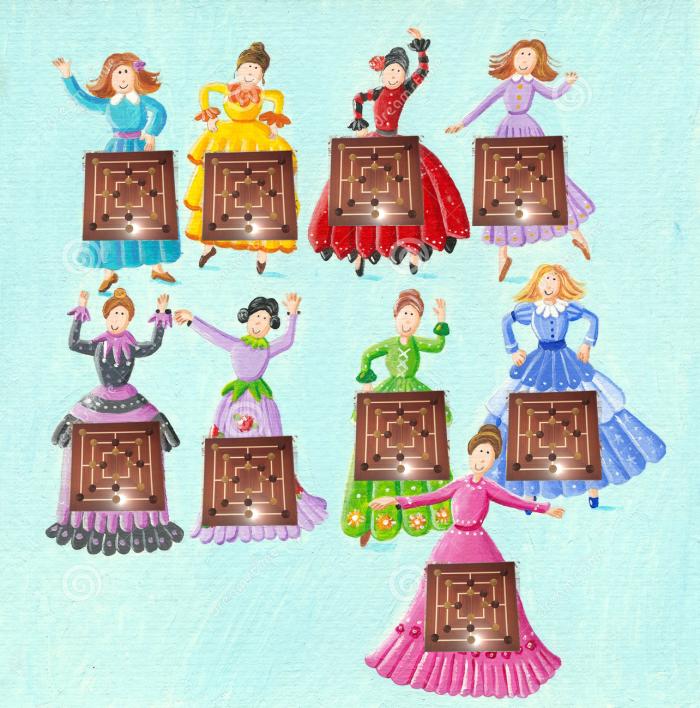 Nine Ladies (Morris) Dancing