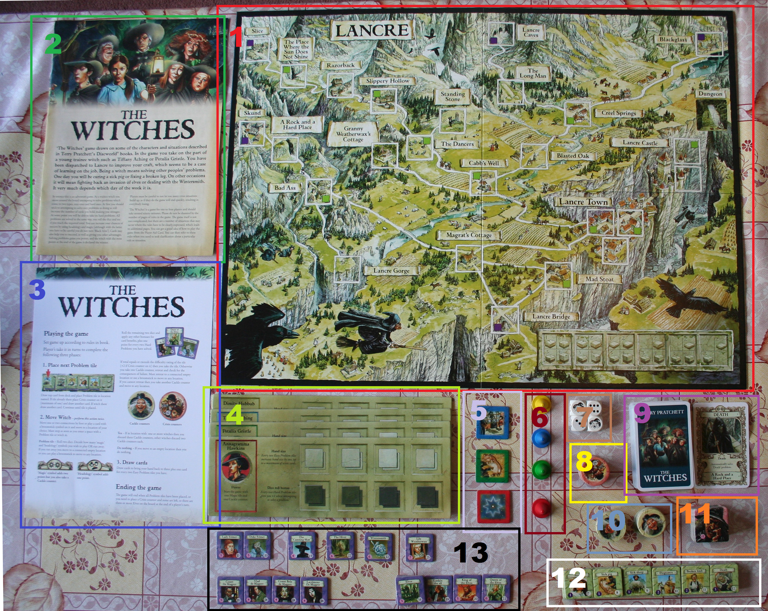 Disc World Map.Discworld Terry Pratchett Tame The Board Game
