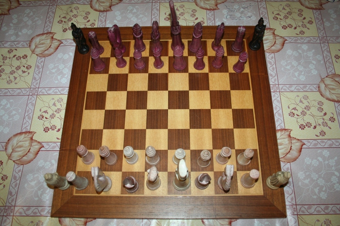 Stealth Chess staring positions.