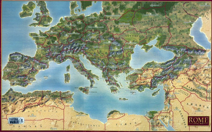 Lovingly borrowed from http://ru.wikipedia.org/wiki/%D0%A4%D0%B0%D0%B9%D0%BB:Rome_total_war_map.jpg