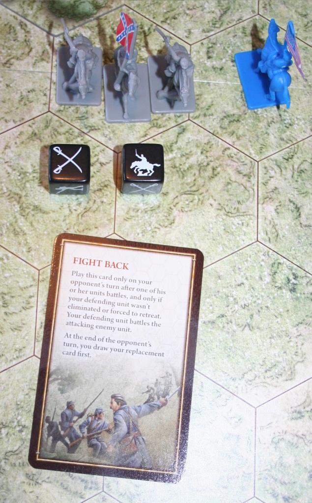 An example of a Tactic Command Card in play.