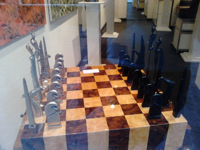 Because it's just beautiful, as chess sets go